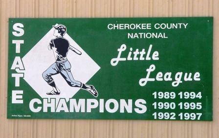 Little League State Champion Sign
